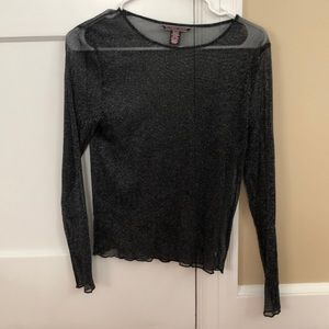 Victoria Secret long sleeve see thru top